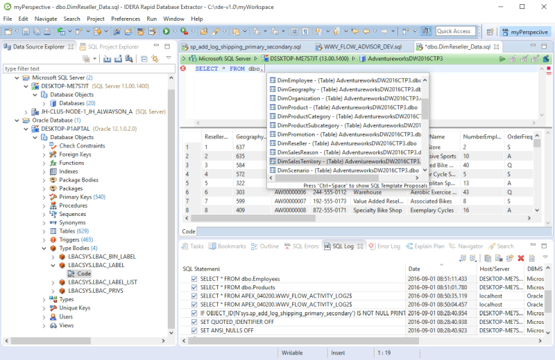 Rapid Database Extractor Screen shot